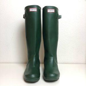 Hunter Boots Green Knee-High